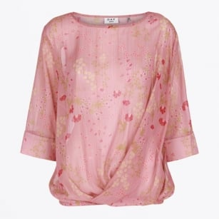 - Day Clift Floral Top - Blushing