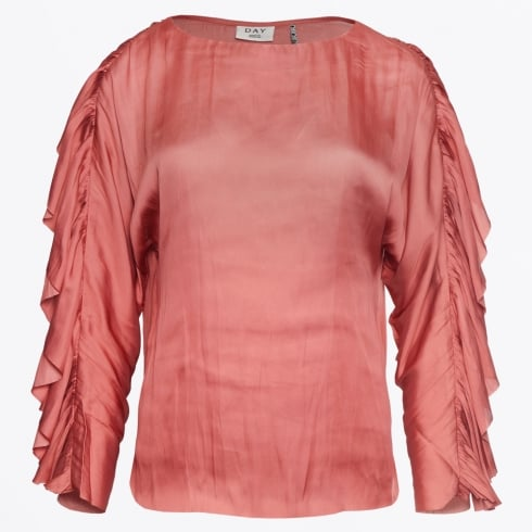 Day Birger et Mikkelsen - Day Souk Frill Sleeve Top - Rouge