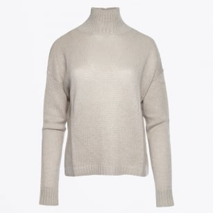 - Lurex Funnel Neck Knit - Dreamy