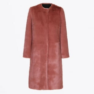 - Mountain Faux Fur Coat - Rouge