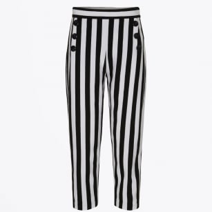 - Nailed Striped Trousers - Caviar