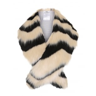 - Ornament Faux Fur Collar - Caviar