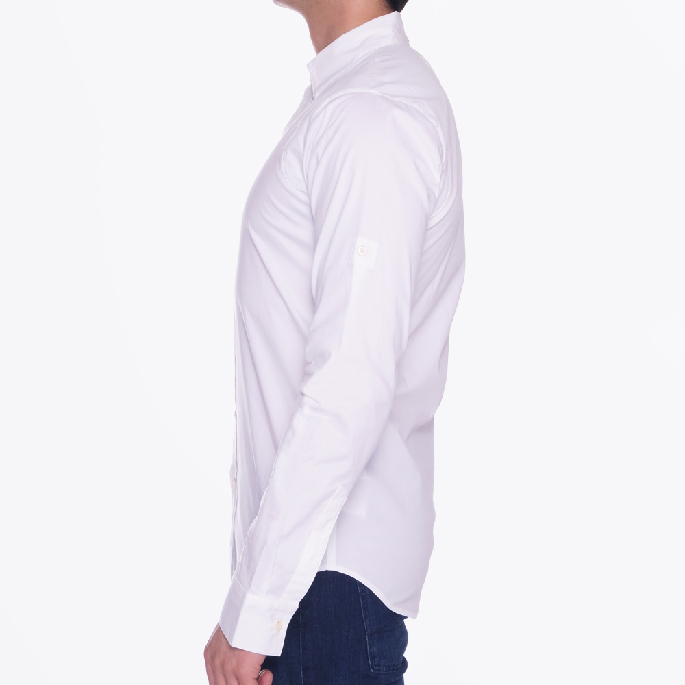 Pin military dress shirt white casual shirts for men for White military dress shirt