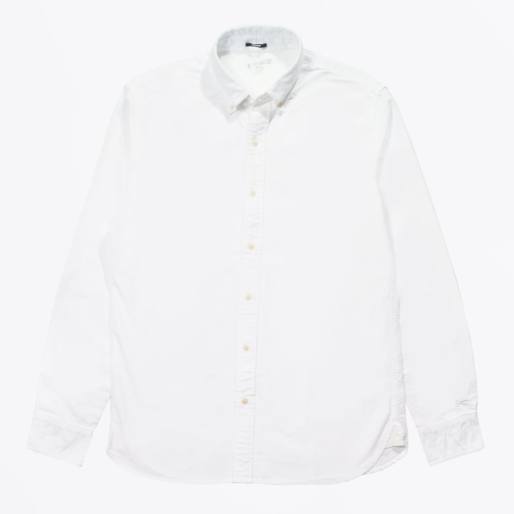 Rhys oxford button down shirt white casual shirts for for Mens white oxford button down shirt