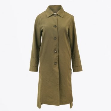 - Five-button Trench Coat - Khaki