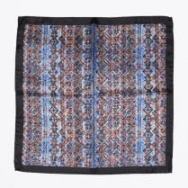 - Aztec Pocket Square - Navy