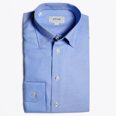 Eton - Blue Diamond Woven Shirt