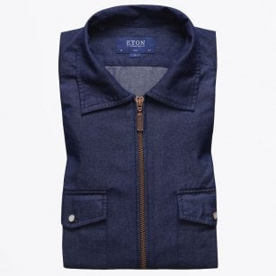 - Denim Zipper Shirt