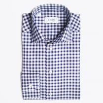 - Navy Gingham Check Shirt