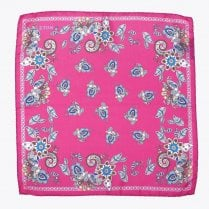 - Paisley Pocket Square - Pink