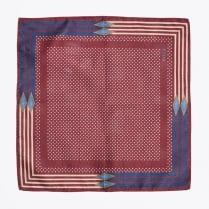 - Polka Dot Pocket Square - Burgundy