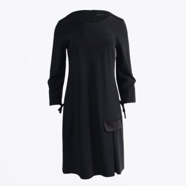 - Black Dress With Sleeve Detail