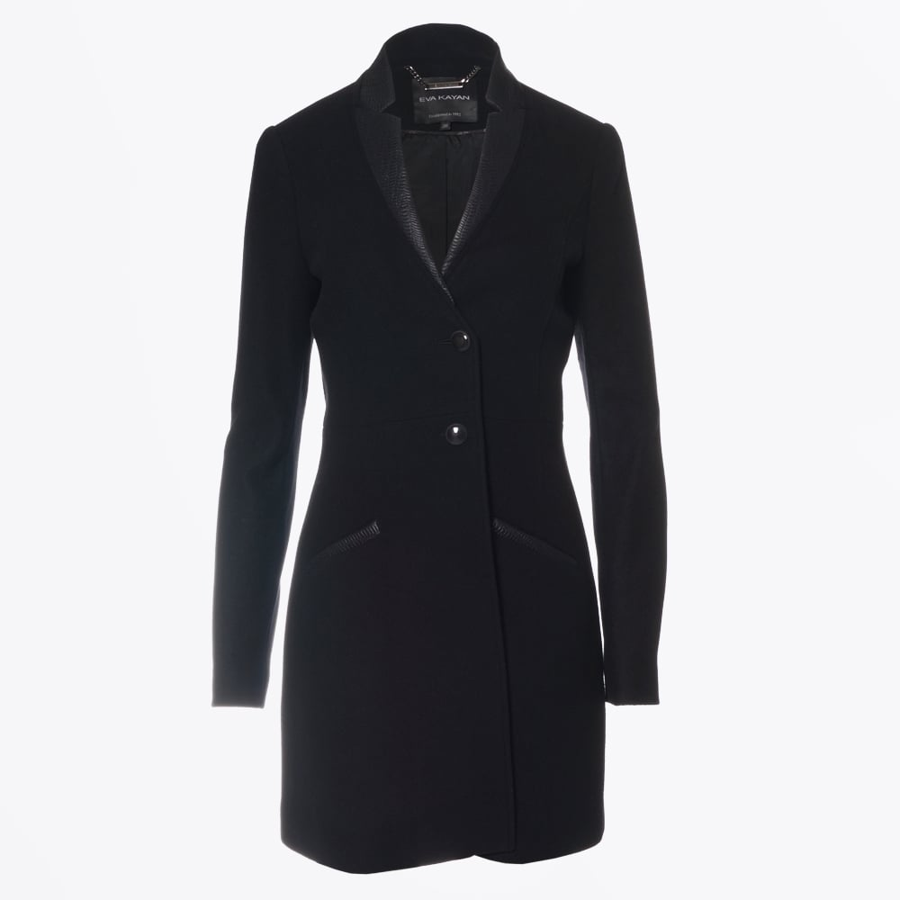 7a0ed96211eb Classic Jacket with Leather Trim | Ladies Winter Coats | Eva Kayan