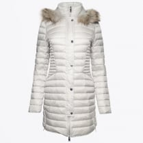 - Long Fur Trimmed Puffa - Perle