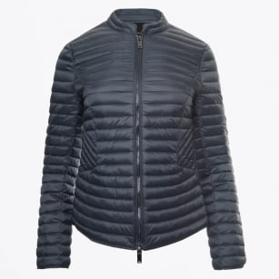 - Quilted Puffa Jacket - Graphite Blue