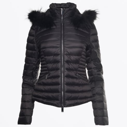 Eva Kayan - Short Fur Trimmed Puffa Jacket - Black