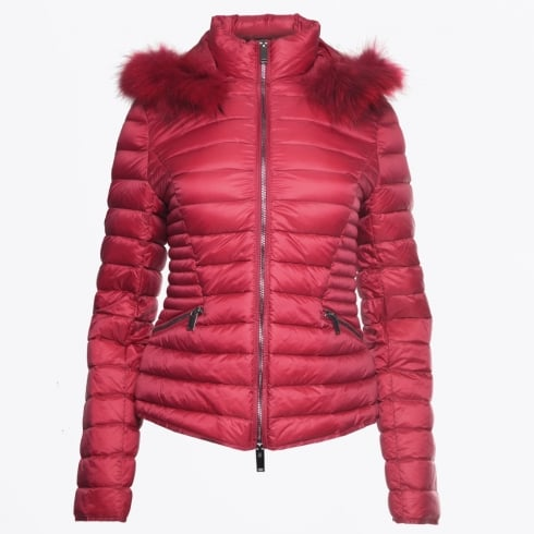 Eva Kayan - Short Fur Trimmed Puffa Jacket - Framboise