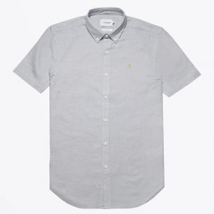 | Beacroft - Short Sleeve Textured Shirt - Grey