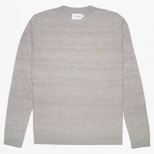 - Blagrove Textured Crew Sweater - Silver Grey