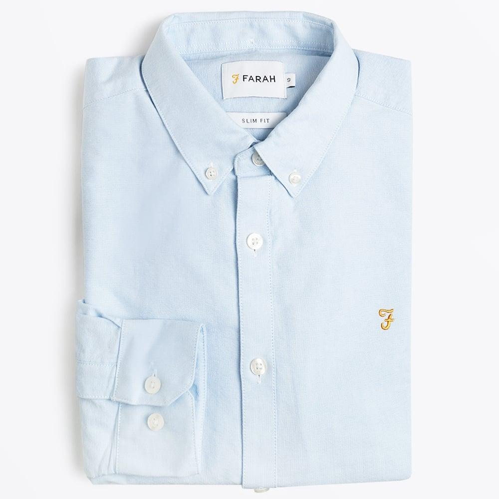 Brewer Slim Fit Oxford Shirt - Sky Blue 327f3a7ff