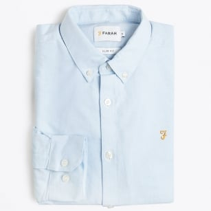 | Brewer Slim Fit Oxford Shirt - Sky Blue