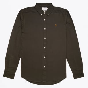 - Brewer Slim Fit Shirt - Ever green