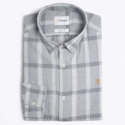 Farah Vintage - Dylan Check Shirt - Grey