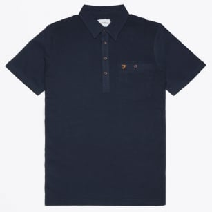 | Lester Short Sleeve Polo - Navy