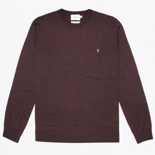 - Mullen Wool Crew Neck Sweater - Bordeaux