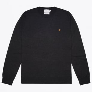 - Mullen Wool Crew Sweater - Dark Asphalt