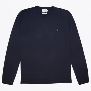 - Mullen Wool Crew Sweater - Navy