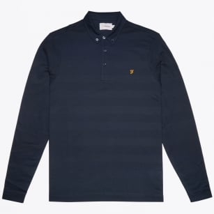 - Stapelton Long Sleeve Polo - True Navy