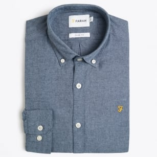 | Steen - Slim Oxford Shirt - Blue