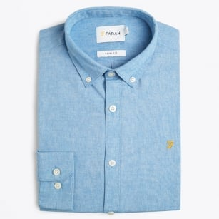 | Steen - Slim Oxford Shirt - Sky Blue
