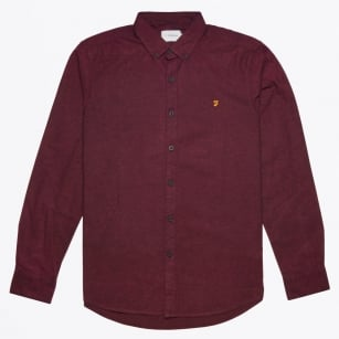 - Steen Slim Shirt - Bordeaux