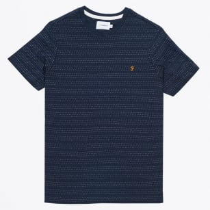 | The Aidan Pin Dot Tee - Navy