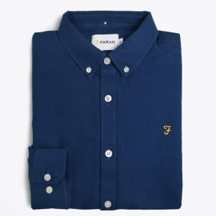 | The Brewer Slim Oxford Shirt - Blue
