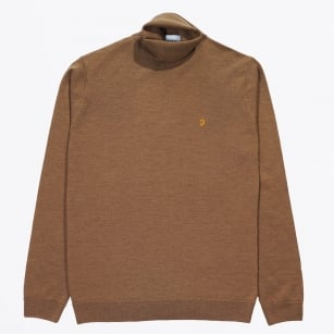| The Gosforth Polo Neck - Camel