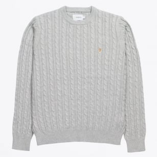 | The Lewes Crew Cable Sweater - Grey
