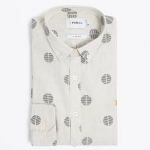 | The Millfield Long Sleeved Shirt - Ecru