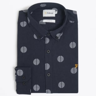 | The Millfield Long Sleeved Shirt - Navy