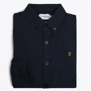 | The Stockton Slim Print Shirt - Navy