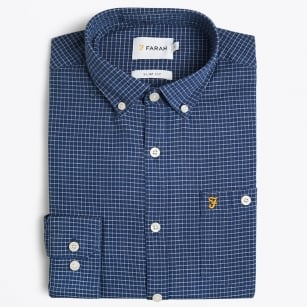 | Webber Check Shirt - Dark Denim