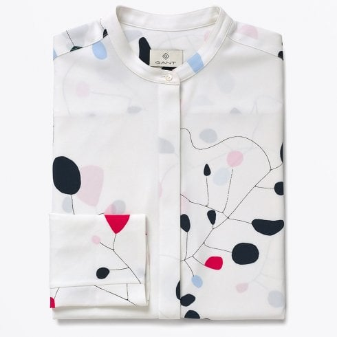 Gant - Abstract Print Blouse - Eggshell