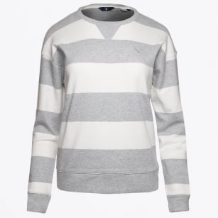 | Barstripe Crewneck Sweatshirt - Light Grey