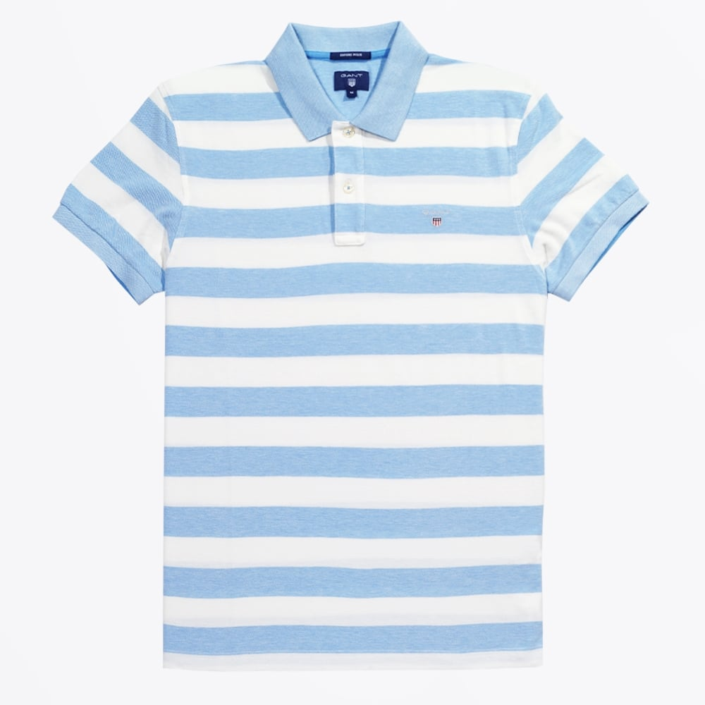 fd6aa003c3ad Barstripe Oxford Pique Rugger | Gant Polo Shirts | Mens Polo | Gant