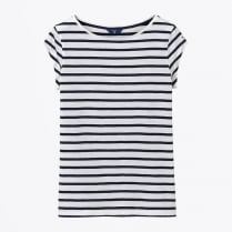 - Breton Stripe T-Shirt - Evening Blue