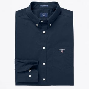 - Broadcloth Button-down Shirt - Marine