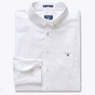 - Broadcloth Button-down Shirt - White