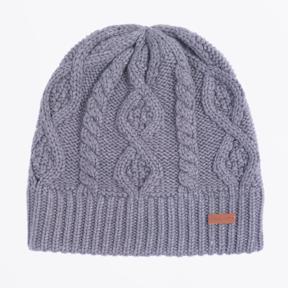 Cable Knit Beanie - Dark Grey  c6e2c487b0e